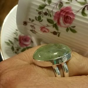 Jewelry - Prehnite ring 925 sterling silver 9